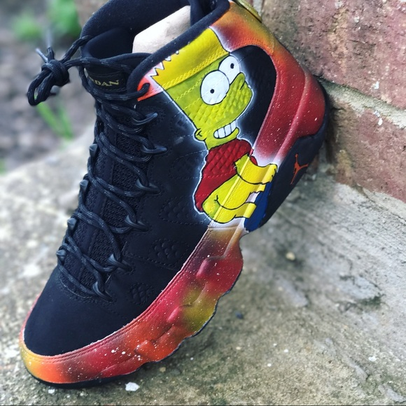 a1836eb05aa Air Jordan Other - Custom bart Simpson Jordan 9 s size8.5 9 10 cond